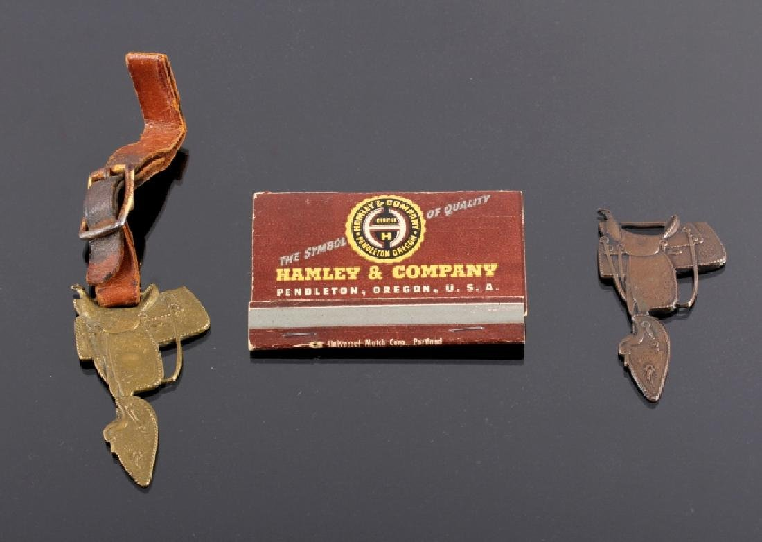 Hamley Saddle Watch Fob & Matchbook Collection