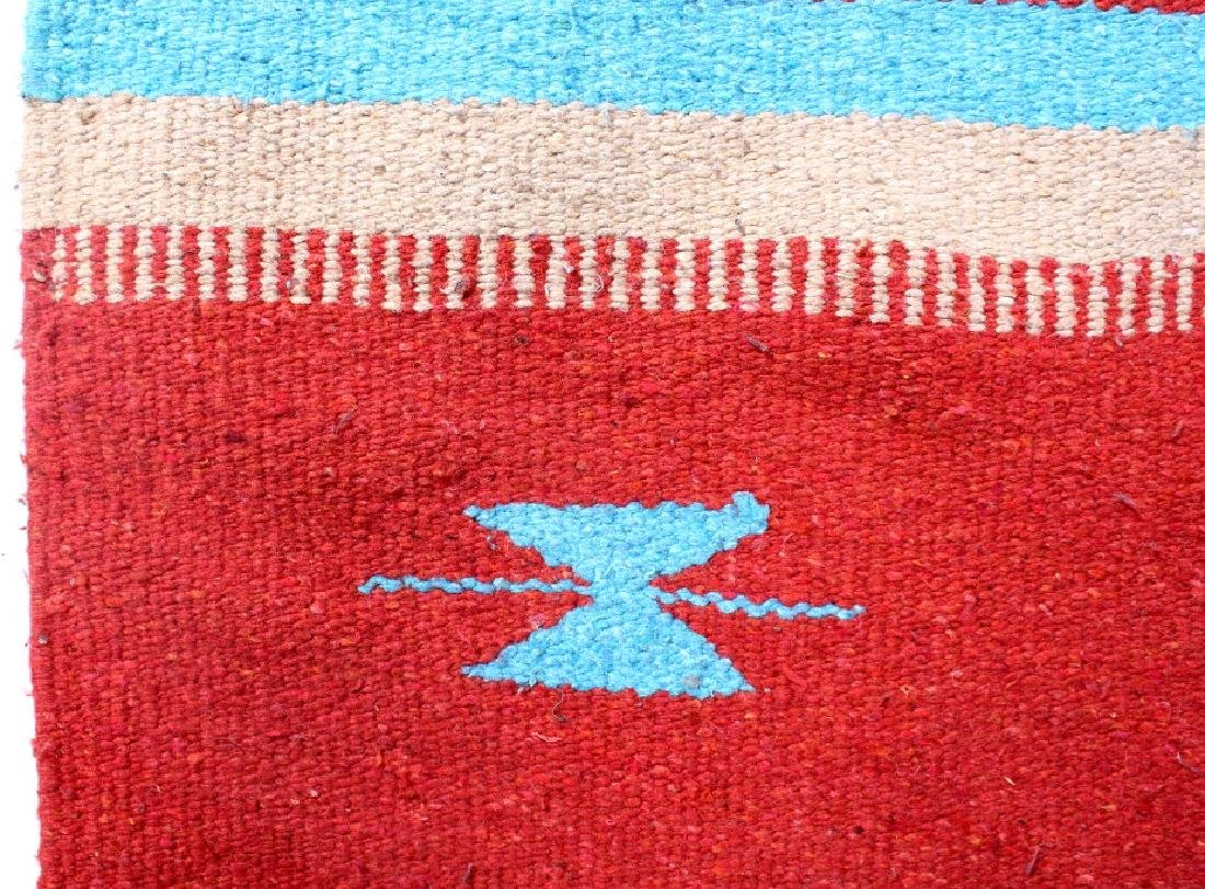 Navajo Native American Indian Hand Woven Rug - 3