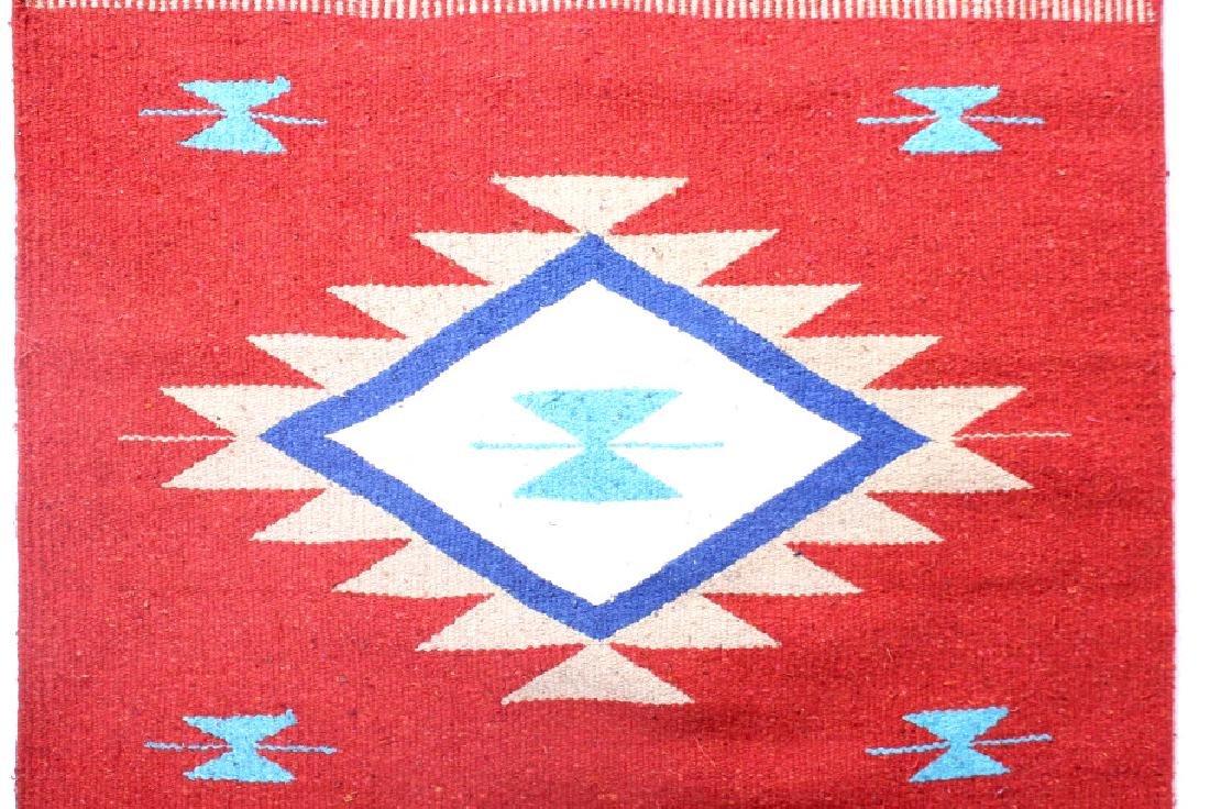 Navajo Native American Indian Hand Woven Rug - 4
