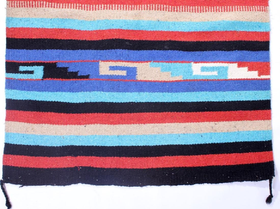 Navajo Native American Indian Hand Woven Rug - 7