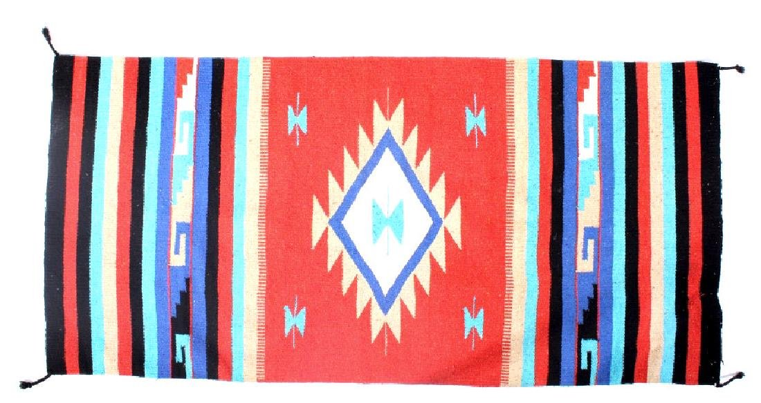 Navajo Native American Indian Hand Woven Rug - 8