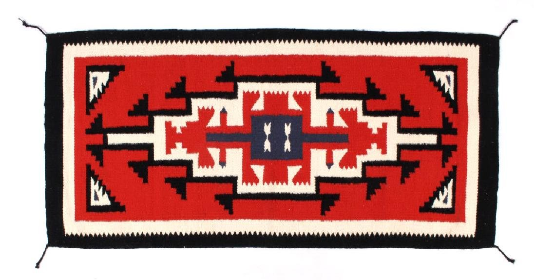 Navajo Native American Genado Pattern Wool Rug