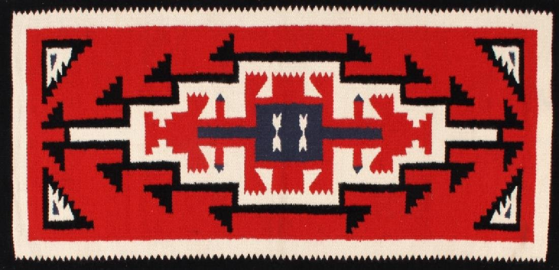 Navajo Native American Genado Pattern Wool Rug - 2