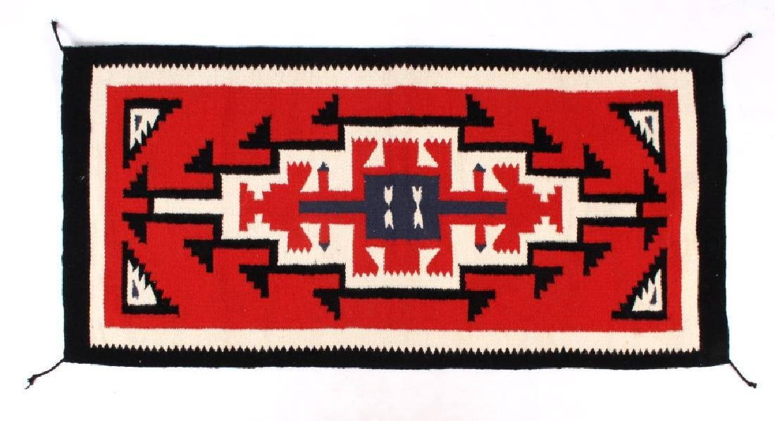 Navajo Native American Genado Pattern Wool Rug - 3