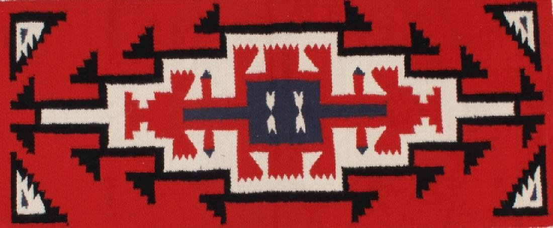 Navajo Native American Genado Pattern Wool Rug - 4