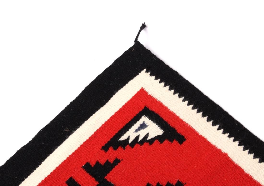 Navajo Native American Genado Pattern Wool Rug - 5