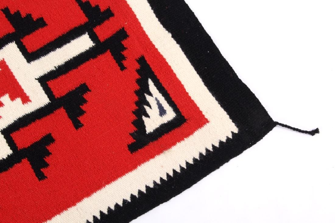 Navajo Native American Genado Pattern Wool Rug - 6