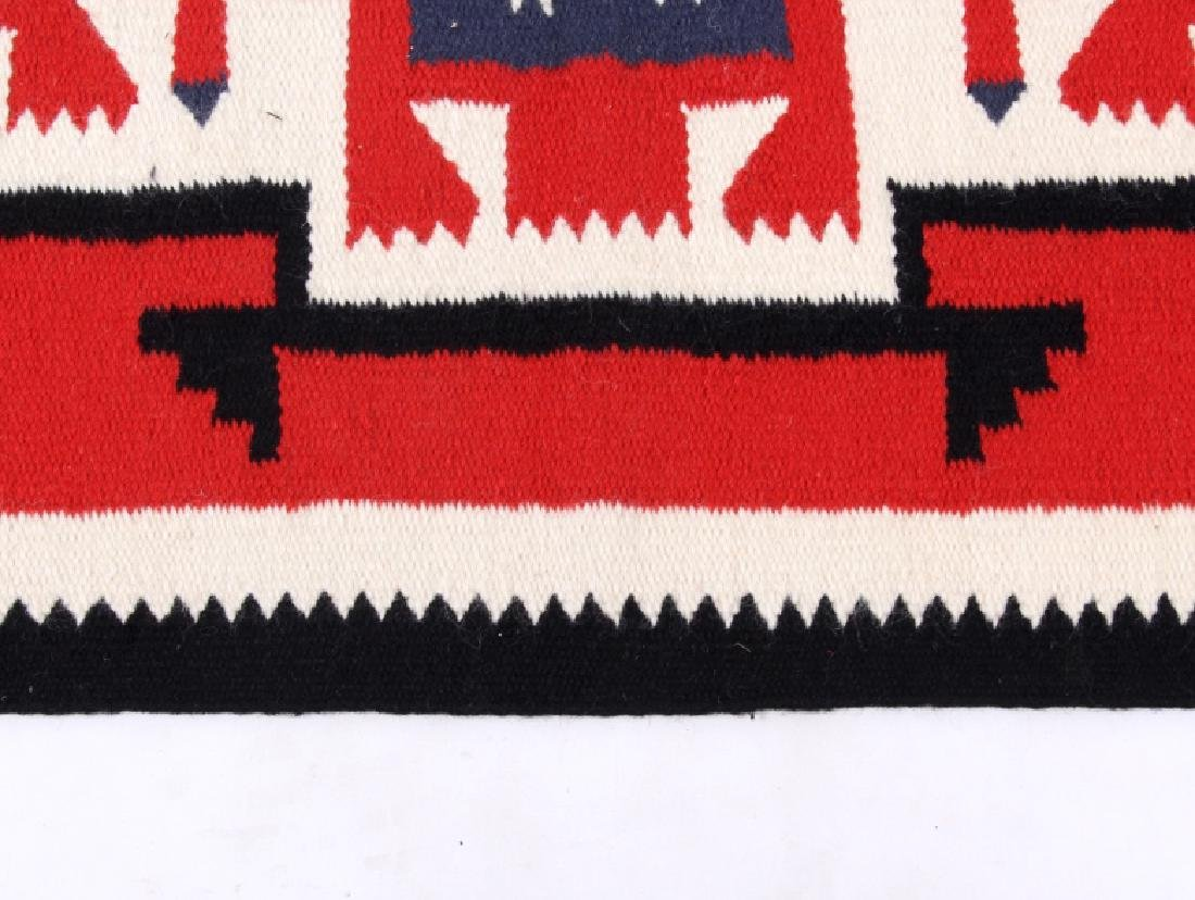Navajo Native American Genado Pattern Wool Rug - 7