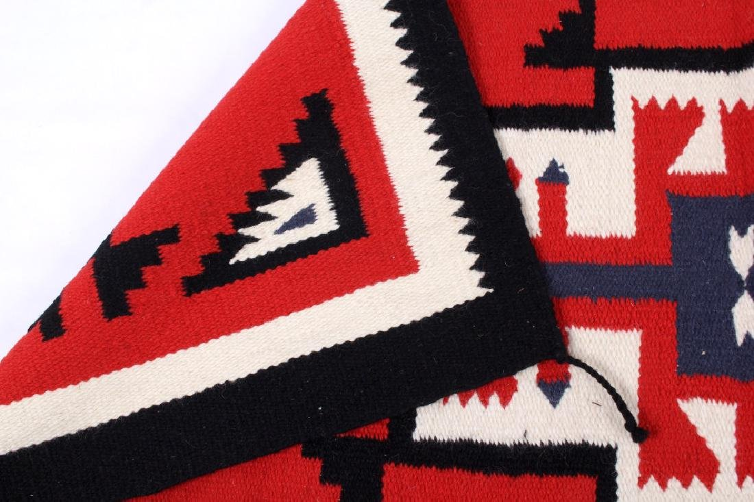 Navajo Native American Genado Pattern Wool Rug - 8
