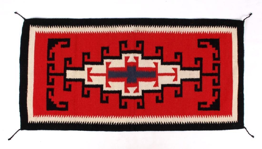 Navajo Native American Genado Pattern Wool Rug