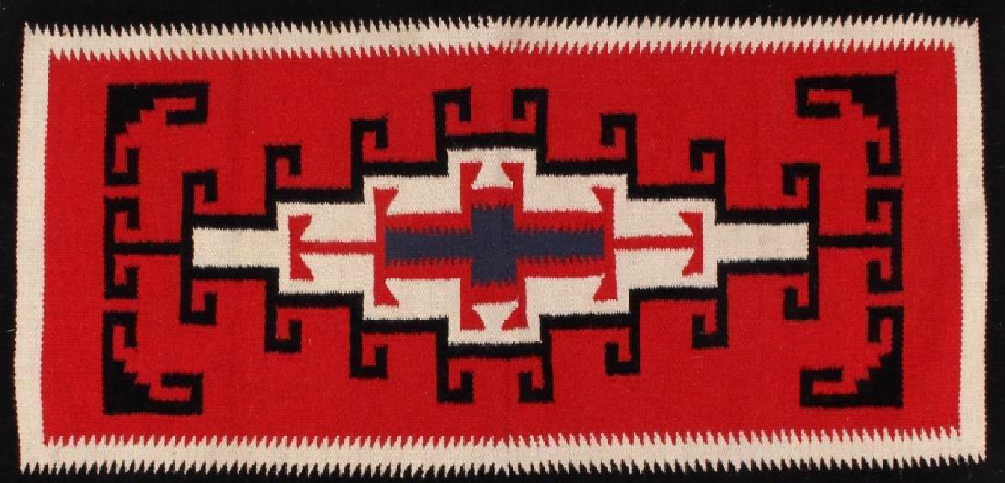 Navajo Native American Genado Pattern Wool Rug - 2