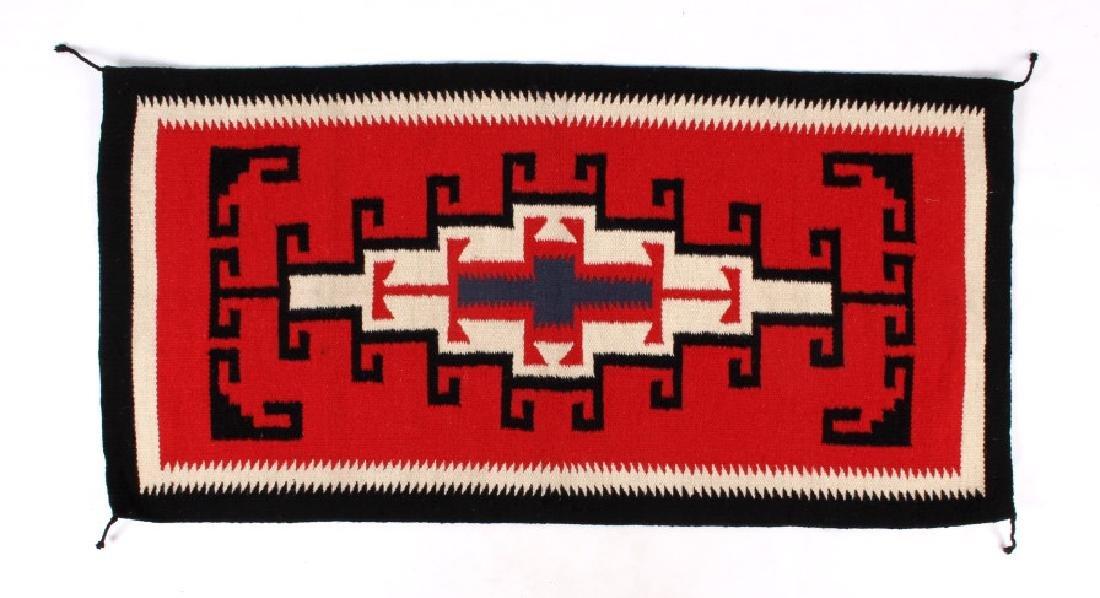 Navajo Native American Genado Pattern Wool Rug - 3