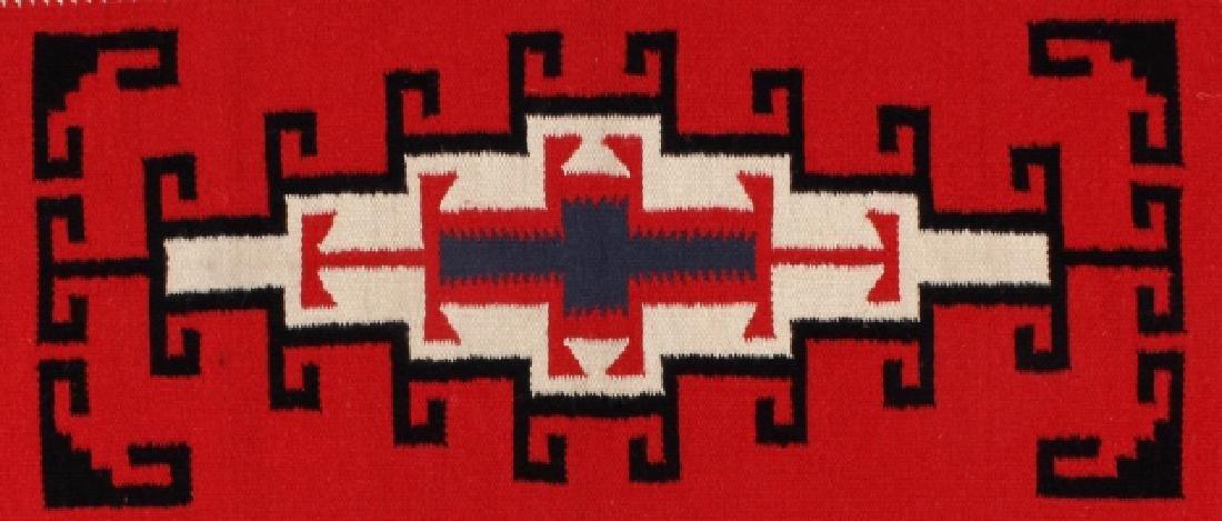 Navajo Native American Genado Pattern Wool Rug - 4