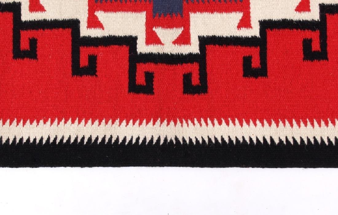 Navajo Native American Genado Pattern Wool Rug - 5