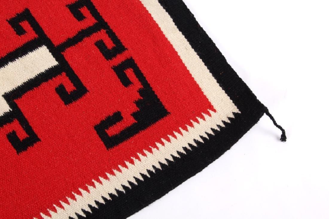 Navajo Native American Genado Pattern Wool Rug - 6