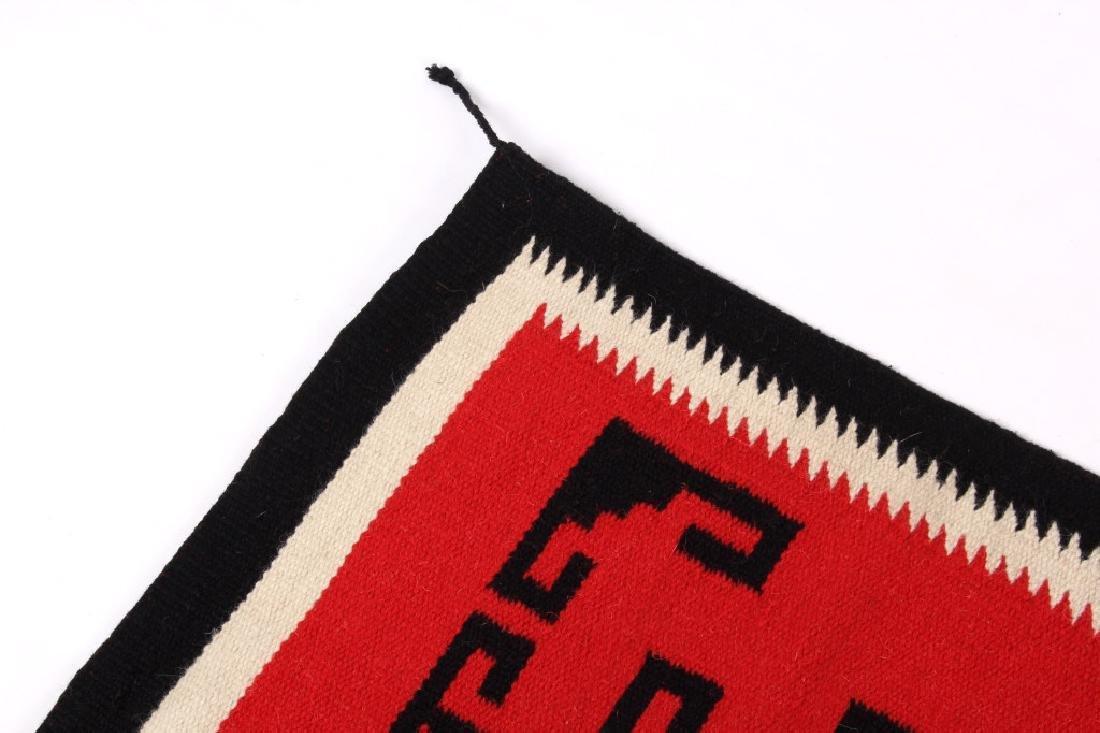 Navajo Native American Genado Pattern Wool Rug - 7