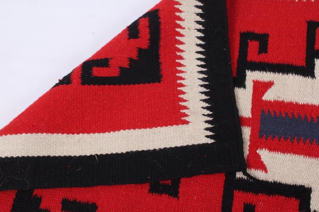Navajo Native American Genado Pattern Wool Rug - 8
