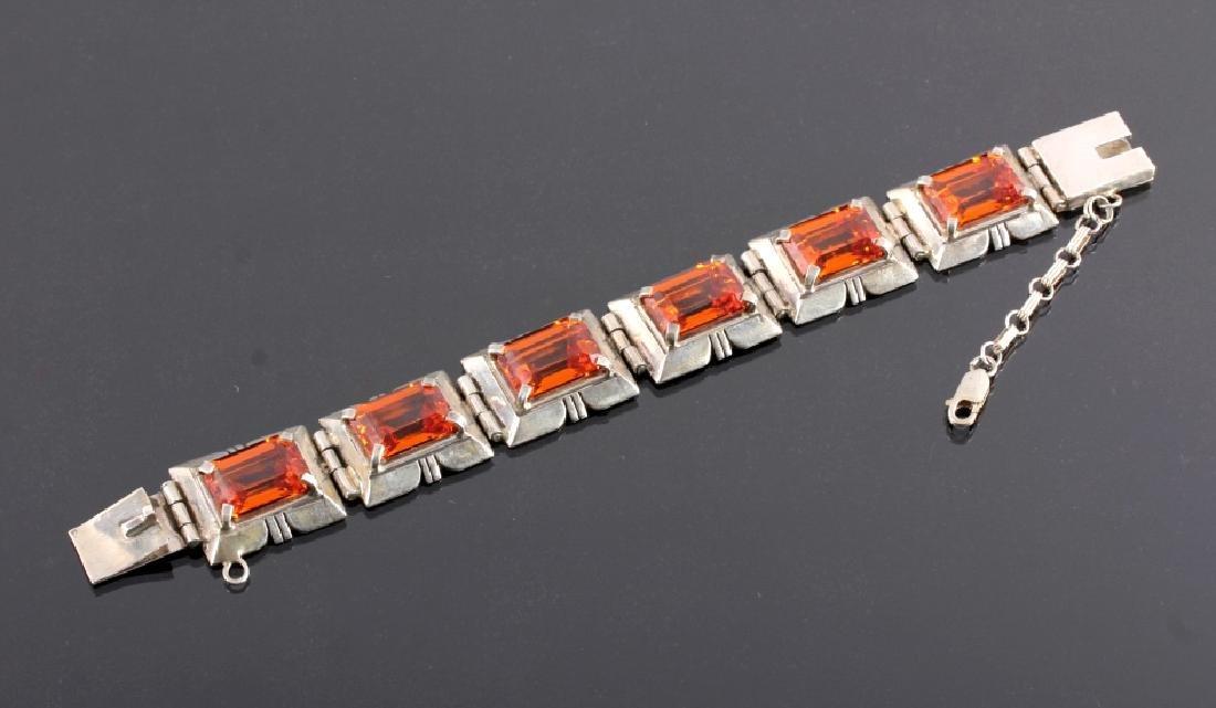 Signed Navajo Sterling Silver Bracelet