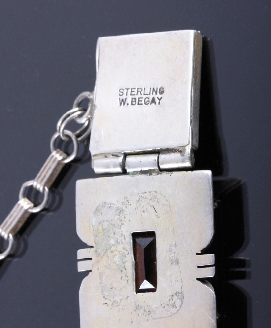Signed Navajo Sterling Silver Bracelet - 7