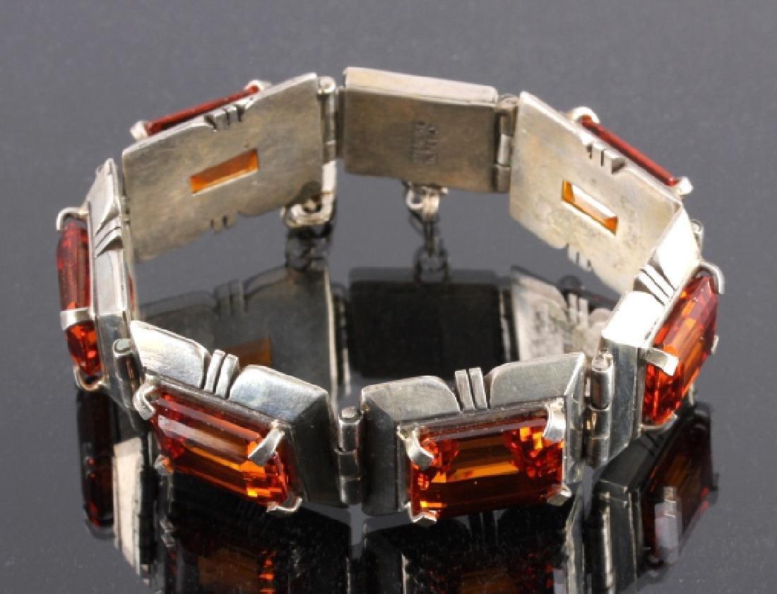 Signed Navajo Sterling Silver Bracelet - 8