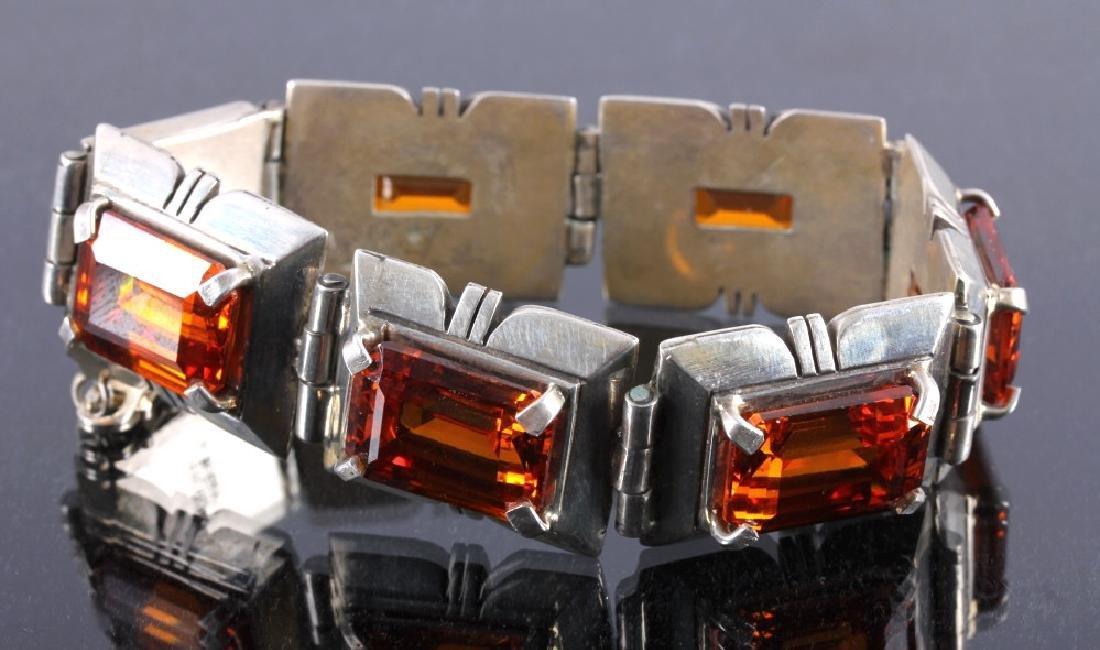 Signed Navajo Sterling Silver Bracelet - 9