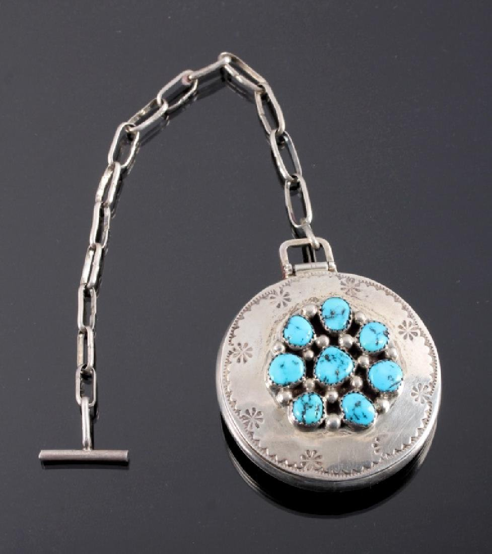 Tommy Moore Navajo Sterling Pocket Watch Case