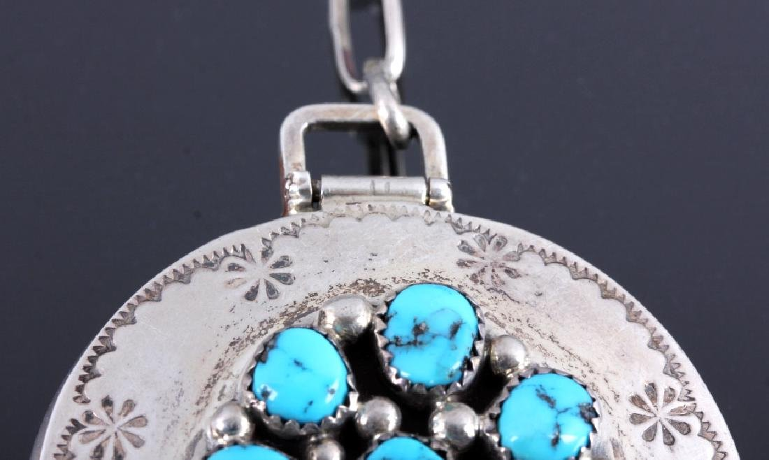 Tommy Moore Navajo Sterling Pocket Watch Case - 4