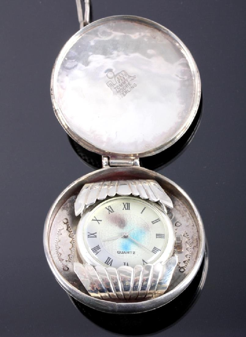 Tommy Moore Navajo Sterling Pocket Watch Case - 7