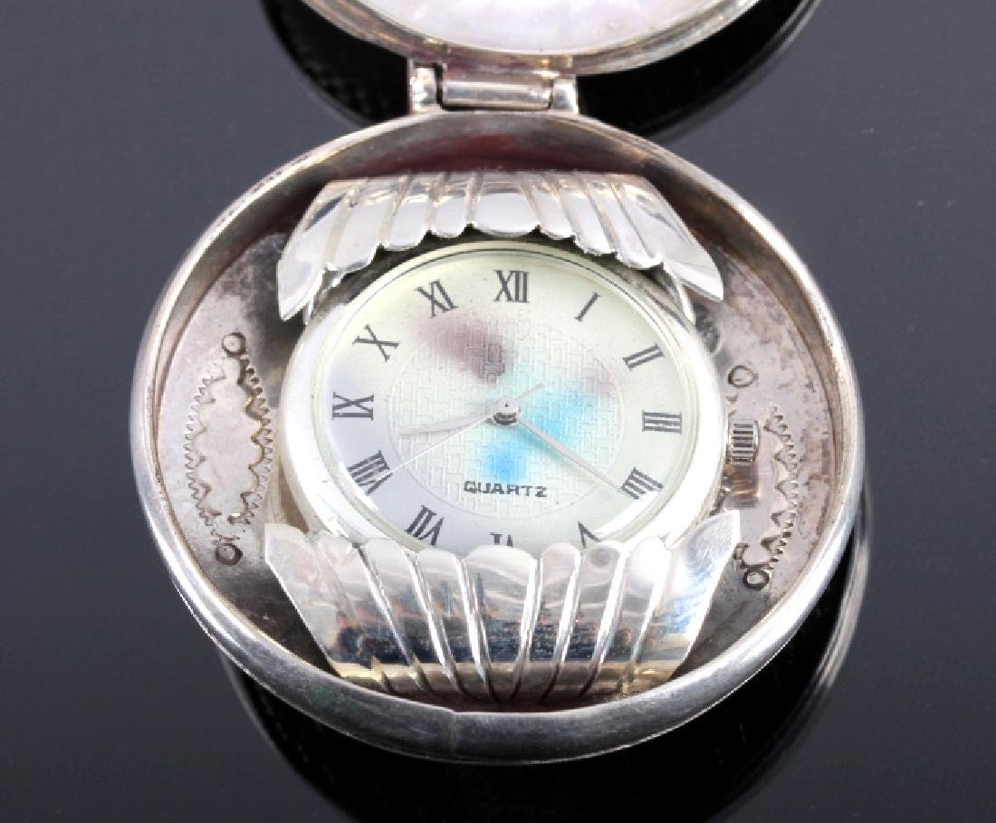 Tommy Moore Navajo Sterling Pocket Watch Case - 8