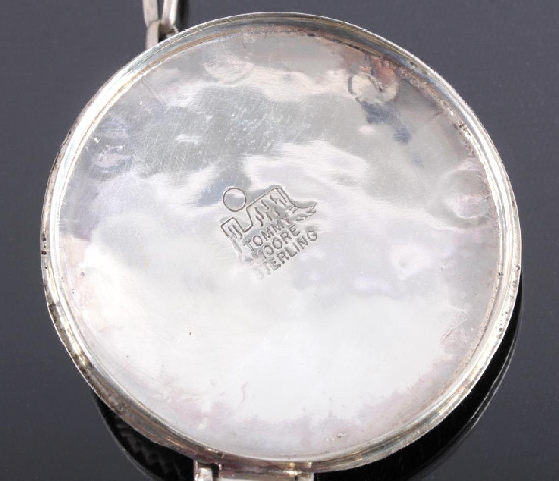 Tommy Moore Navajo Sterling Pocket Watch Case - 9