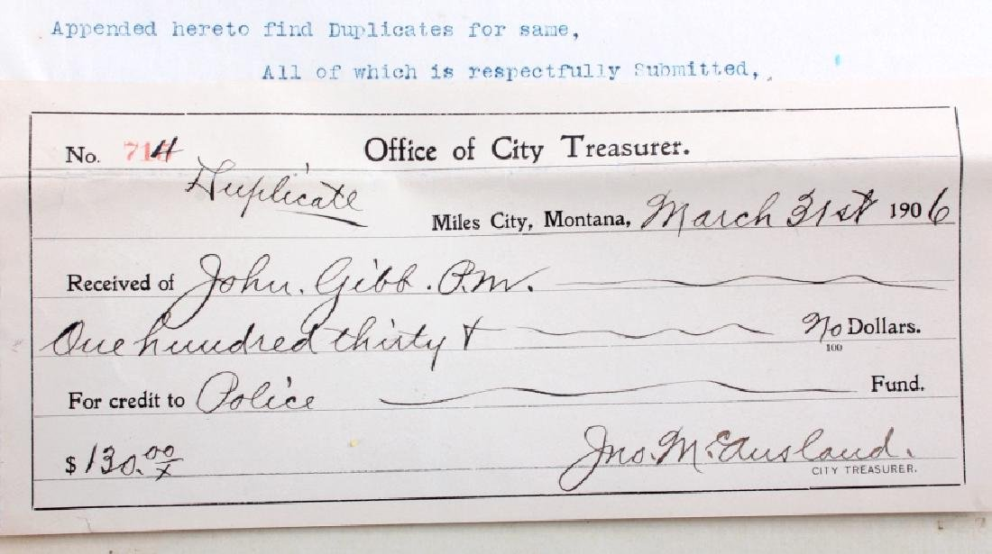Miles City Montana Prostitution Ephemera c.1906 - 5
