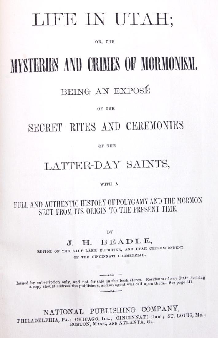 Mysteries and Crimes of Mormonism 1st Ed. 1870 - 3