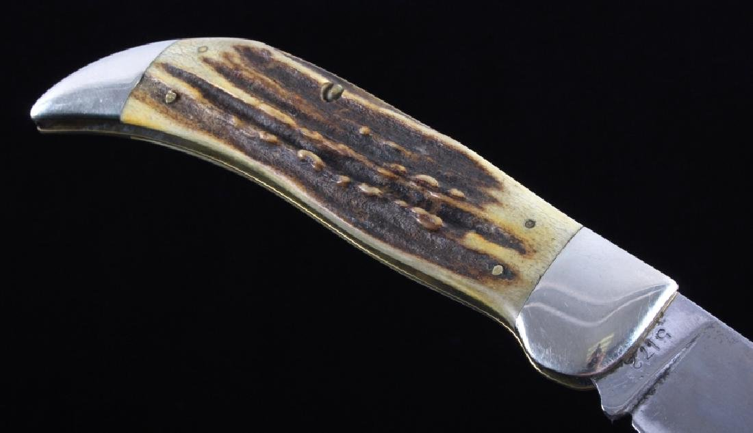 Case Bulldog Stag Handle Folding Knife - 8