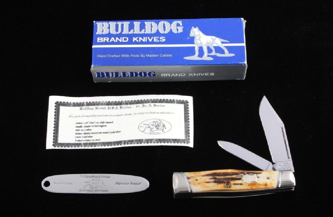 Bulldog Brand German Folding Pocket Knife NIB