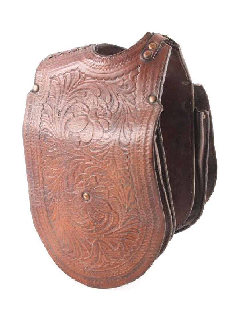 John Clark Tooled Leather Gunfighter Saddlebags