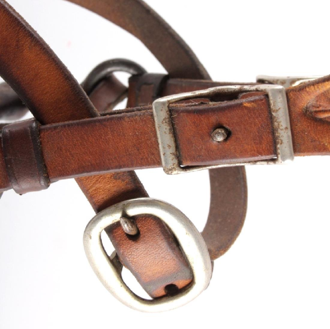 Tooled Leather Headstall w/ U.S. Cavalry Bit - 6