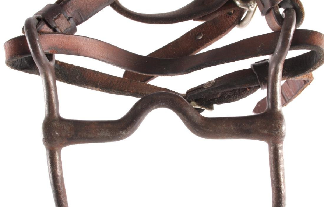 Tooled Leather Headstall w/ U.S. Cavalry Bit - 8