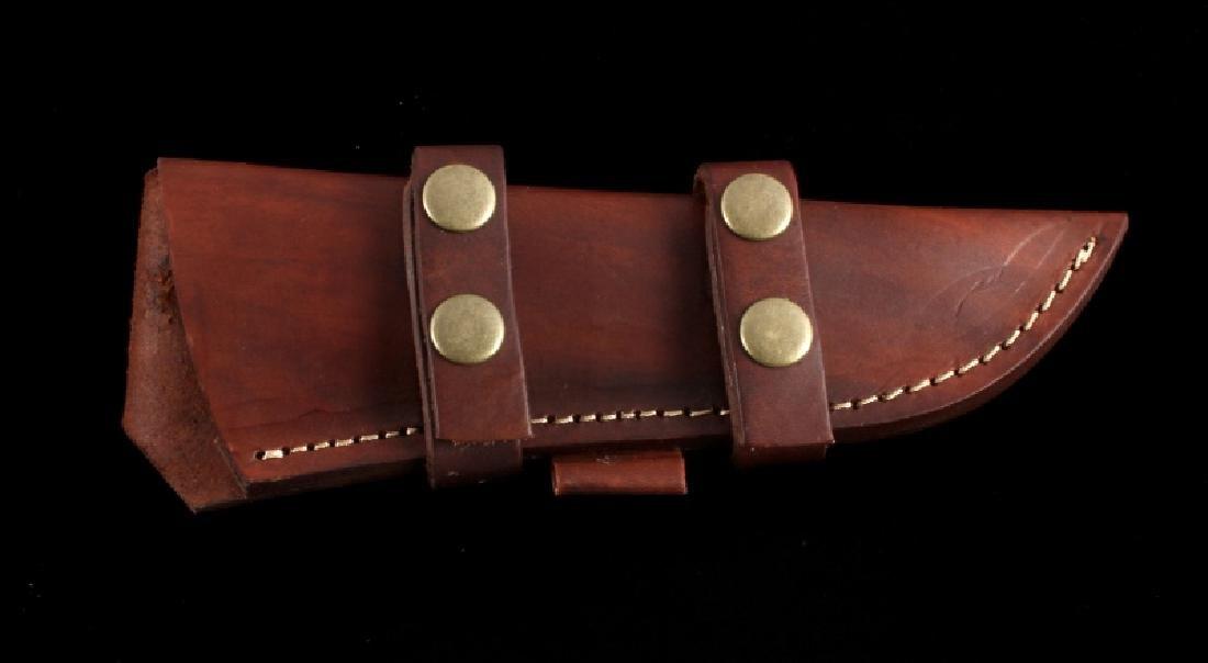 CFK Damascus Exotic Camel Bone Inlaid Horn Knife - 7