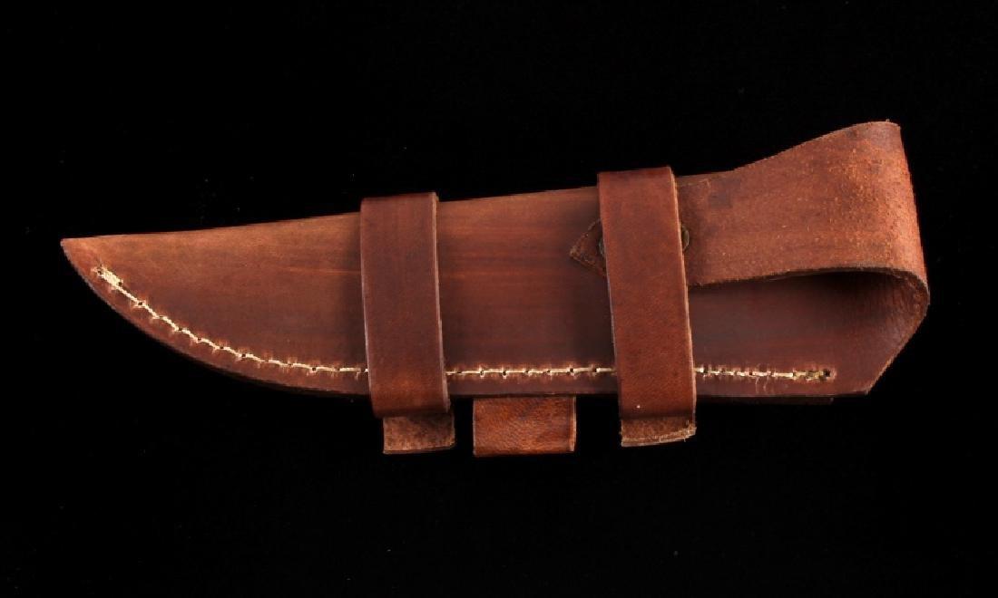 CFK Damascus Exotic Camel Bone Knife & Scabbard - 8