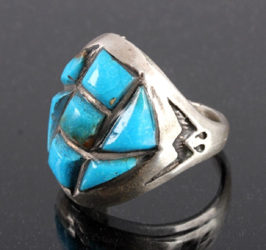 Navajo Sterling Silver Turquoise Ring