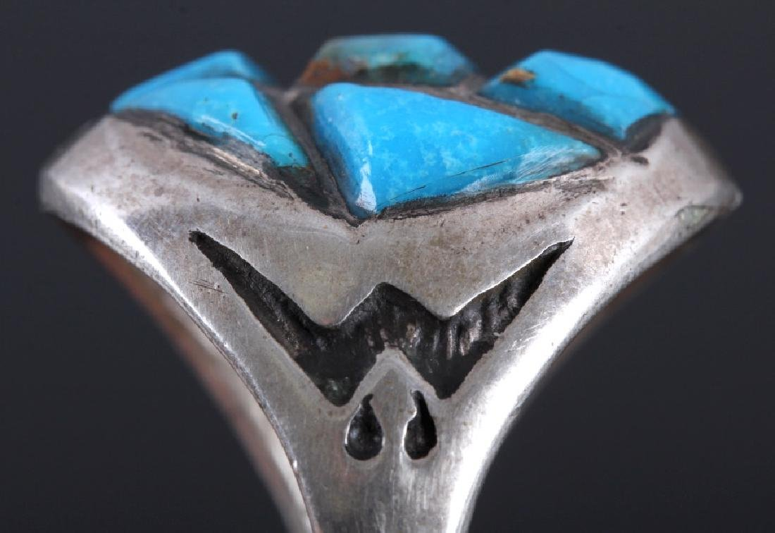 Navajo Sterling Silver Turquoise Ring - 5