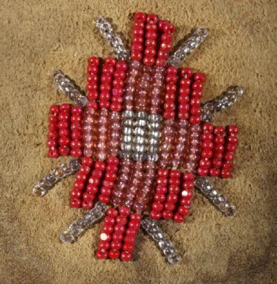 Sioux Native American Beaded Soft Sole Moccasins - 4
