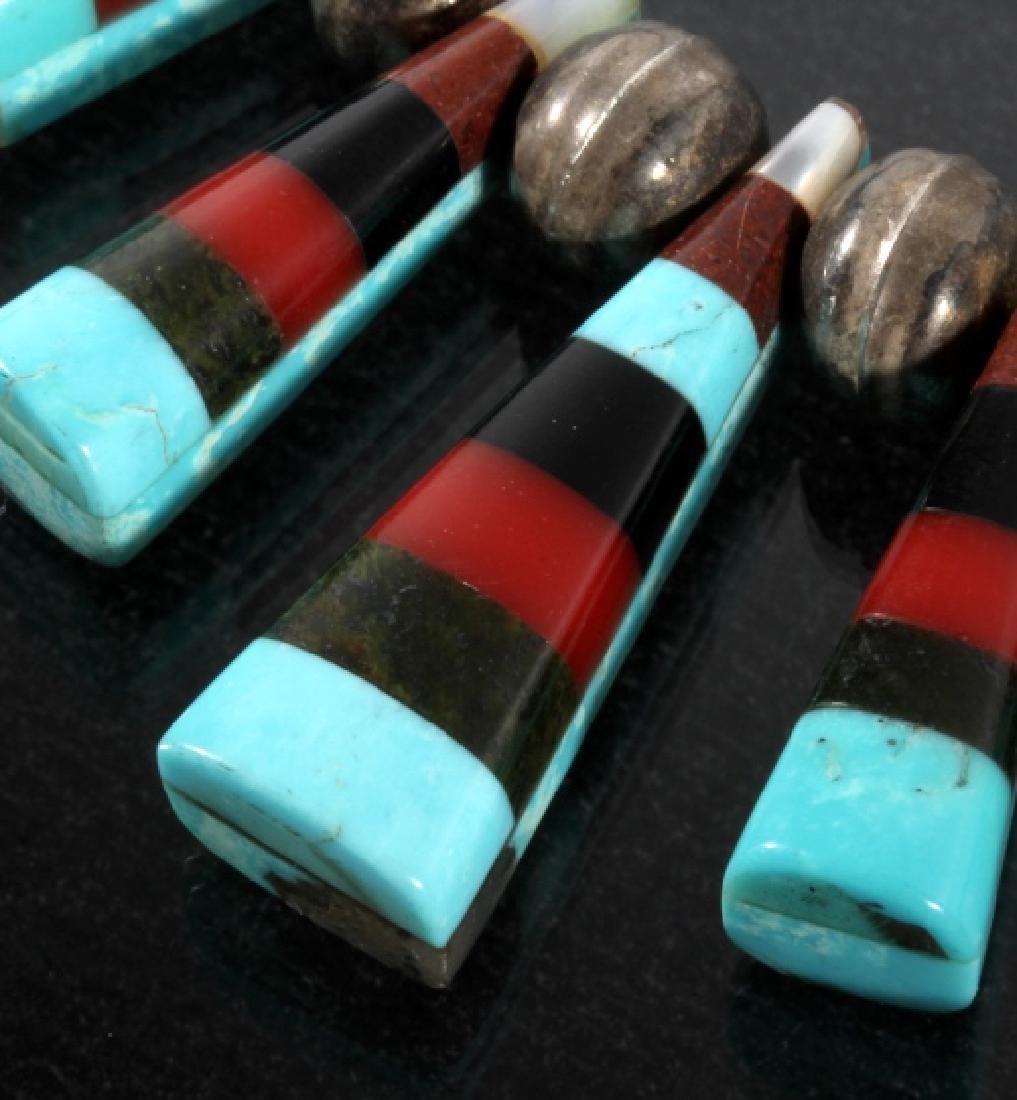 Navajo Mosaic Mutli-Stone & Heishe Bead Choker - 4