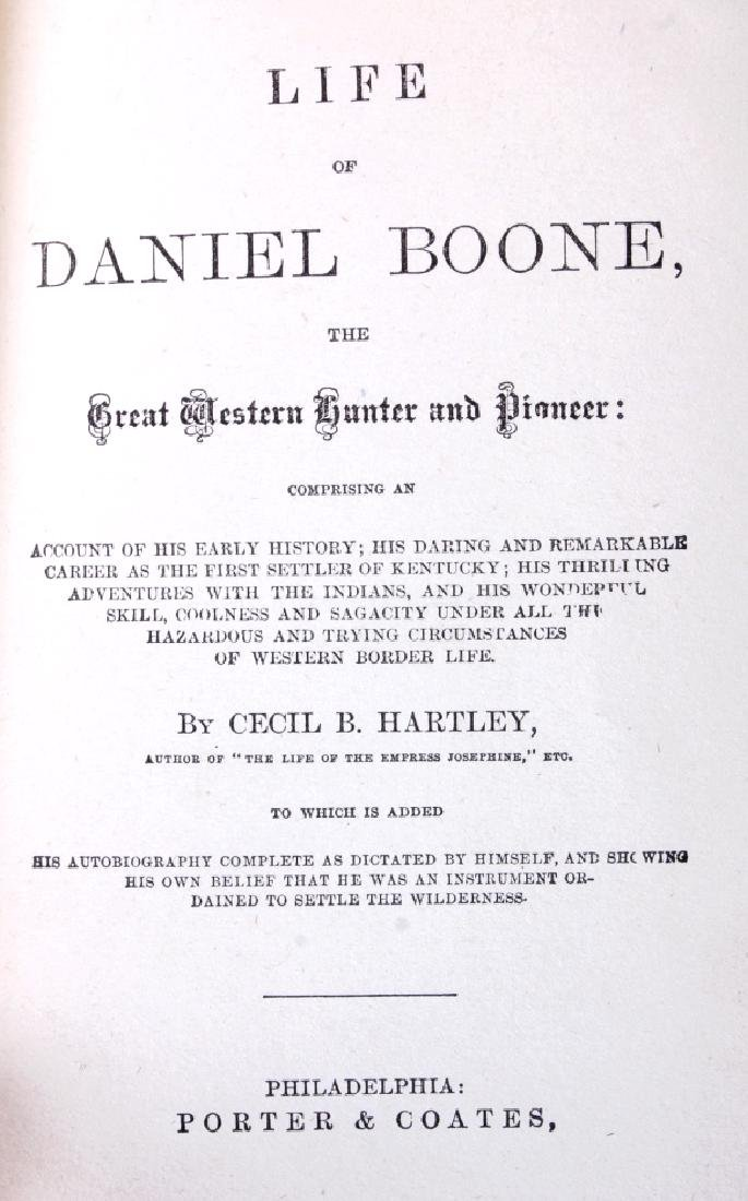 Life of Daniel Boone by Hartley First Edition 1865 - 3