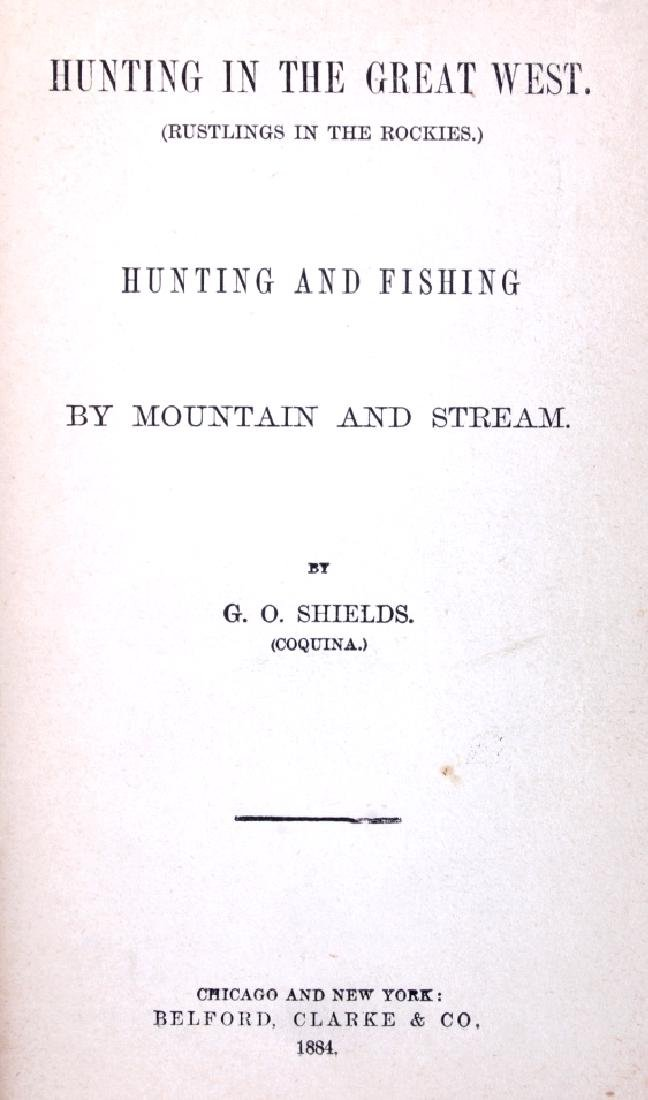 Hunting in the Great West by Shields 1884 - 3