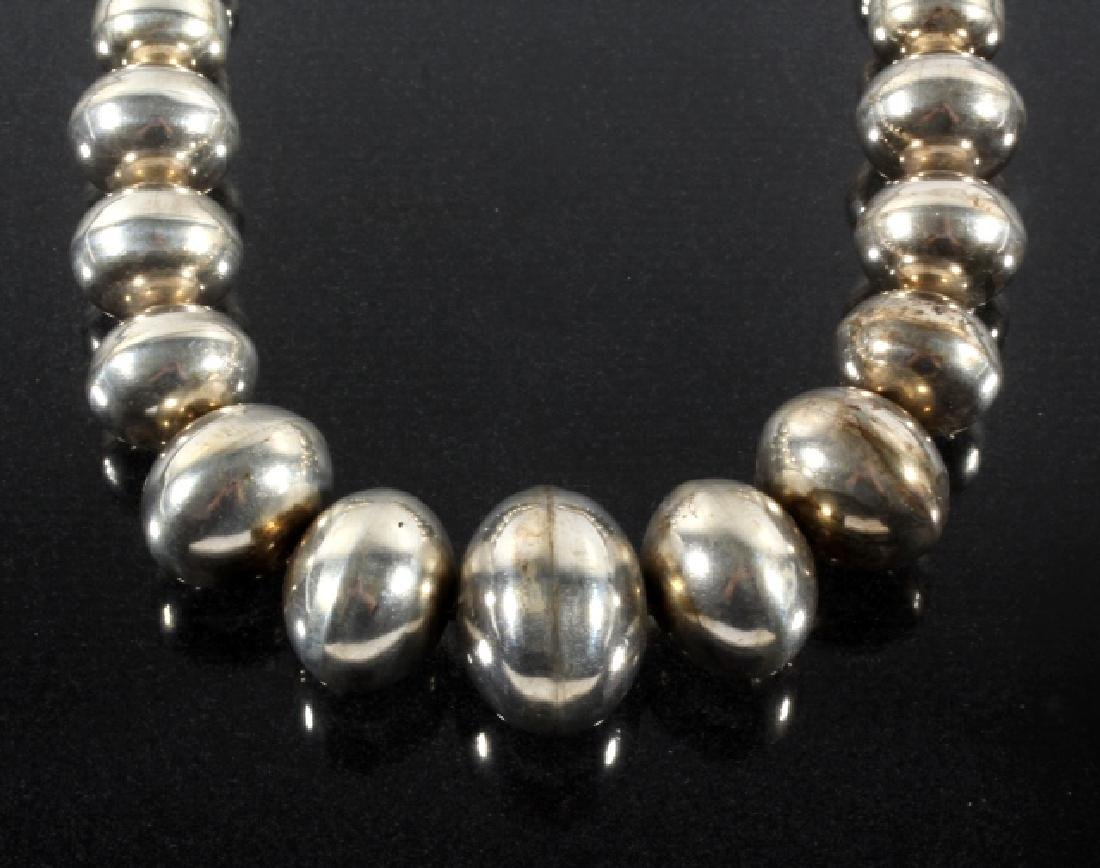 Navajo Sterling Silver Pearl Bead Necklace - 2