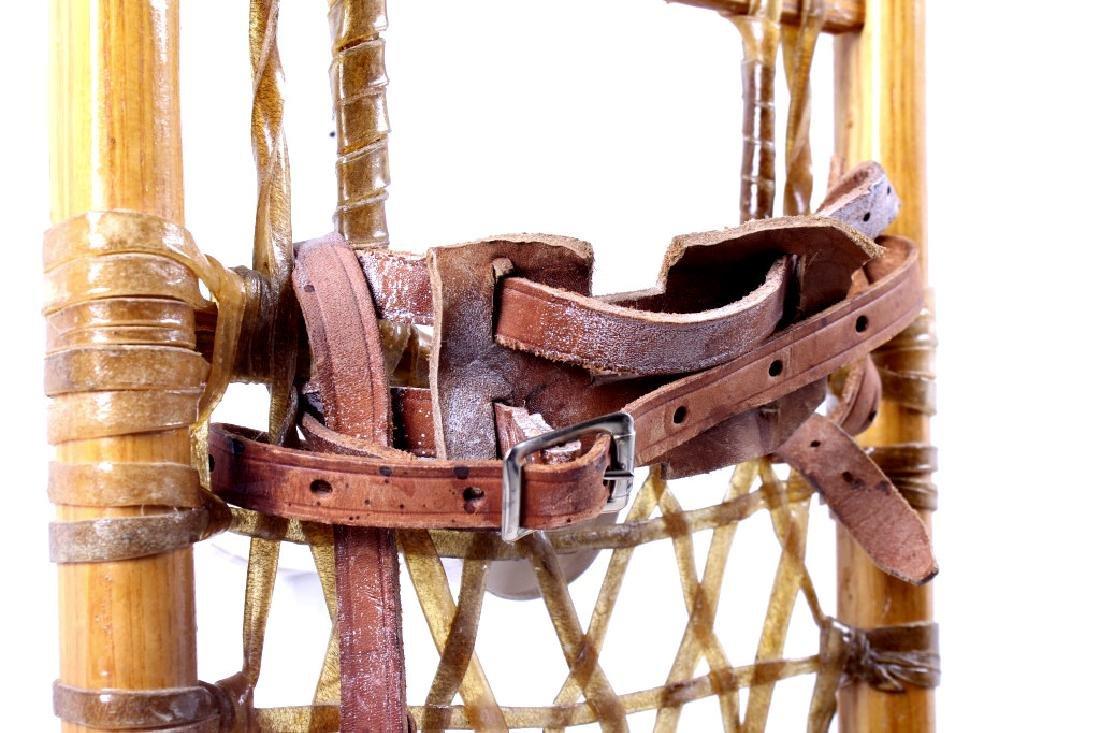 Antique Wooden Wallingford, VT Snowshoes - 10