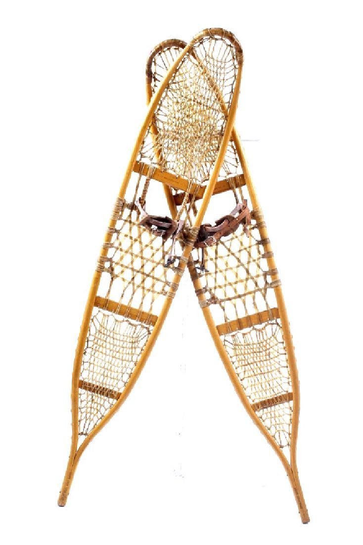Antique Wooden Wallingford, VT Snowshoes
