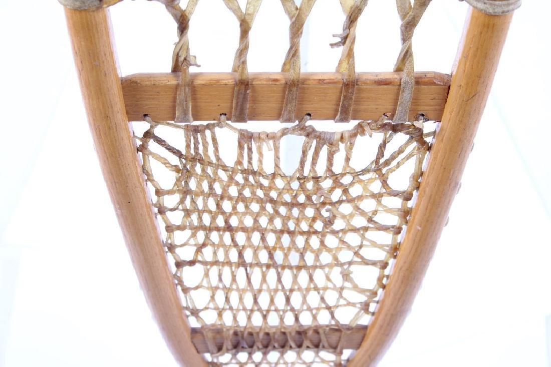 Antique Wooden Wallingford, VT Snowshoes - 9