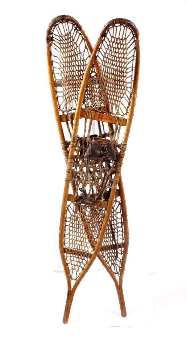 Antique Wooden Wallingford, VT Snowshoes